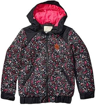 Roxy Kids Lowland Jacket (Big Kids) (True Black Georgia Flowers) Girl's Coat