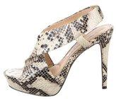 Diane von Furstenberg Embossed Crossover Sandals