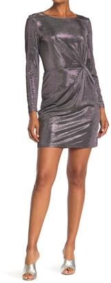 BB Dakota What's Your Shine Metallic Mini Dress