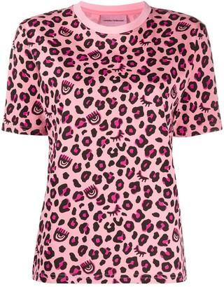 Chiara Ferragni leopard print T-shirt