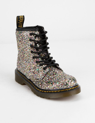 Dr. Martens 1460 Chunky Silver Glitter Girls Boots