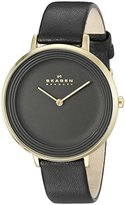 Skagen Women's SKW2286 Ditte Black Leather Watch