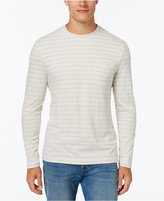 Club Room Men's Big and Tall Striped Long-Sleeve Shirt