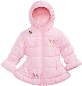 S. Rothschild Baby Girls Hooded Embroidered Puffer Jacket