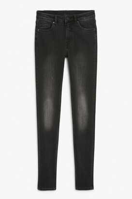 Monki Mocki washed black jeans