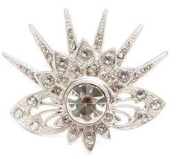 Paco Rabanne Sunray Crystal Embellished Ring - Womens - Crystal