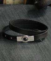 Nautilus Silver-Plated & Leather Starburst Bead Bracelet