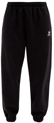 Balenciaga Gym Wear Logo Cotton-jersey Track Pants - Black
