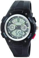 Dunlop Respect Men's Digital Watch with LCD Dial Analogue - Digital Display and Black PU Strap DUN-237-G01