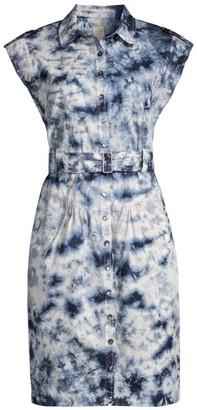 Rebecca Taylor Tie-Dye Belted Dress