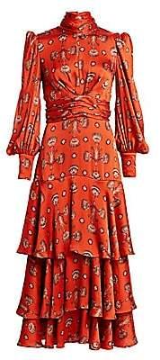 Johanna Ortiz Women's Atypical Tropics Tiered Ruffle Maxi Dress