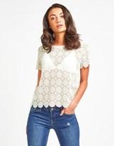 Naf Naf Lace Short Sleeve T-shirt