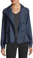 Emporio Armani Double-Breasted Chambray Jacket