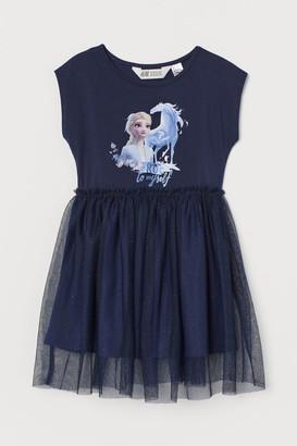 H&M Tulle-skirt Dress - Blue