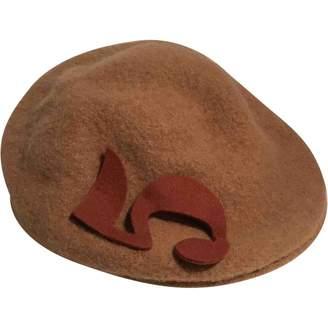Borsalino Beige Wool Hats