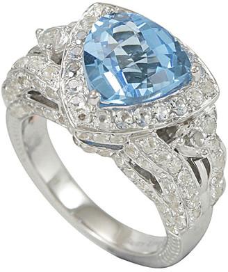 Suzy Levian Diamonds Suzy Levian Silver 7.42 Ct. Tw. Diamond & Topaz Ring