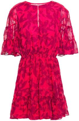 Joie Teresa Fil Coupe Floral-print Silk And Cotton-blend Mini Dress