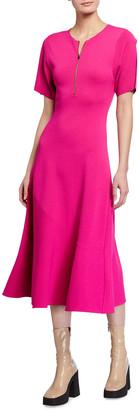 Stella McCartney Compact Knit Fit & Flare Dress