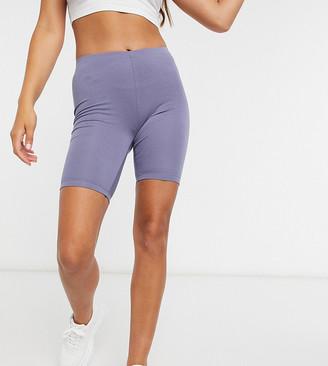 ASOS DESIGN Petite basic legging short in dark blue