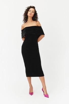 Coast Velvet Bardot Midi Dress