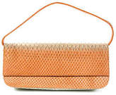 Stuart Weitzman Orange Blue Faux Crocodile Small Shoulder Handbag