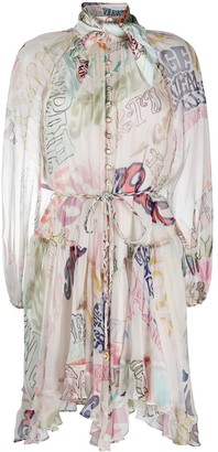 Zimmermann Abstract Letter Print Floaty Dress