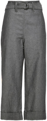 Brunello Cucinelli Cropped Cotton And Linen-blend Twill Wide-leg Pants
