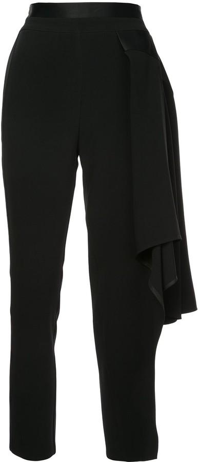 Kovalska Cropped Kovalska Asymmetric Trousers Asymmetric Cropped WEI29DYH