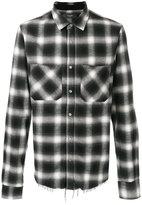 Amiri checkered print flannel shirt