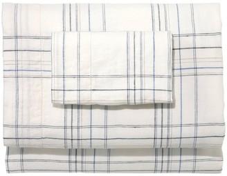 L.L. Bean L.L.Bean Sunwashed Linen Sheet Collection, Plaid
