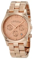 Marc by Marc Jacobs MBM3107 Rose Gold Stainless Steel Chronograph Womens Watch