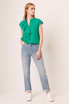 Elna French Connenction Light Cropped Ruffle Blouse
