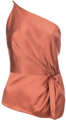 Mason by Michelle Mason twist knot silk top