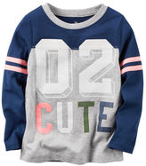 Carter's Long-Sleeve Varsity Tee