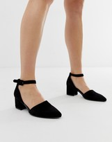 Vagabond mya black suede pointed block heeled shoes