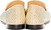 Giuseppe Zanotti Nude Leather Gold-Studded Dalila Loafers