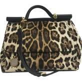 Dolce & Gabbana Sicily pony-style calfskin handbag