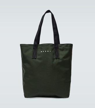 Marni Canvas tote bag with logo