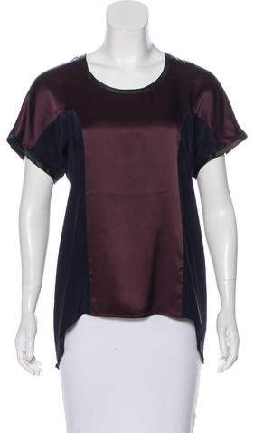 Rue Du Mail RDM by Colorblock Silk Top