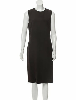 Gucci Sleeveless Midi Dress Brown