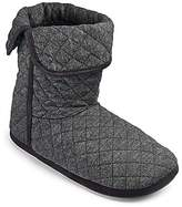 Grey Jersey Quilted Slipper Boot Standard Fit