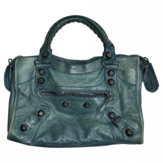 Balenciaga City Green Leather Handbags