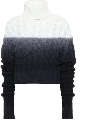 Matthew Adams Dolan Cropped wool turtleneck sweater