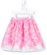 Charabia - embroidered skirt - kids - Cotton - 2 yrs