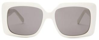 Celine Oversized Square Acetate Sunglasses - Womens - White
