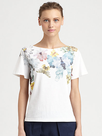 Cacharel Butterfly Print Tee