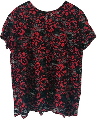 Ganni Red Lace Tops