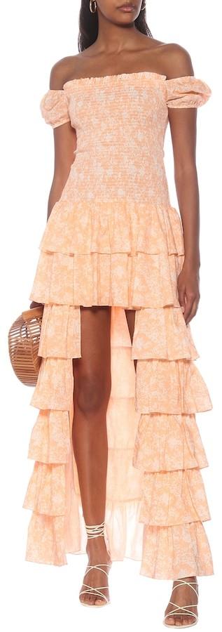 Caroline Constas Exclusive to Mytheresa Malta off-shoulder cotton maxi dress