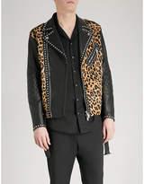 DSQUARED2 Leopard-print leather jacket