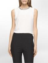 Calvin Klein Beaded Neck Sleeveless Top